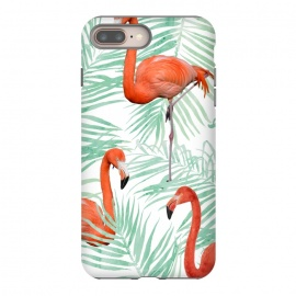 iPhone 8/7 plus  Flamingo & Mint Palm by Uma Prabhakar Gokhale