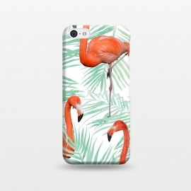 iPhone 5C  Flamingo & Mint Palm by Uma Prabhakar Gokhale