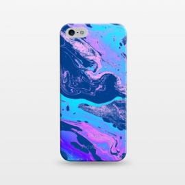 iPhone 5/5E/5s  Marbellous by Uma Prabhakar Gokhale (graphic, pattern, oil, paint filter, paint effect, marble, paper marble, exotic, bold, colorful, blue, purple, ocean, sea, dark)
