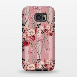 Galaxy S7 EDGE  Floral Love X (Red) by Zala Farah