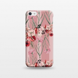 iPhone 5C  Floral Love X (Red) by Zala Farah