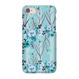 iPhone 8/7  Floral Love X (Blue) by Zala Farah