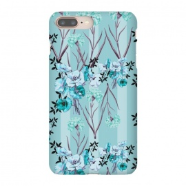 iPhone 8/7 plus  Floral Love X (Blue) by Zala Farah