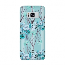 Galaxy S8  Floral Love X (Blue) by Zala Farah