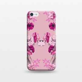 iPhone 5C  Dramatic Florals (Pink) by Zala Farah