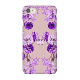 iPhone 8/7  Dramatic Florals (Purple) by Zala Farah