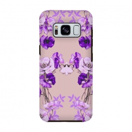 Galaxy S8  Dramatic Florals (Purple) by Zala Farah
