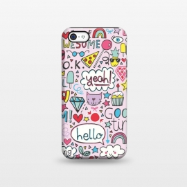 iPhone 5C  Good Times Pink by Rhiannon Pettie