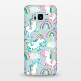 Galaxy S8+  Unicorn Surprise by Kimrhi Studios (stars,unicorn,clouds,flying,wings,bubblegum,rainbow)