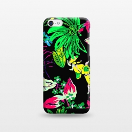 iPhone 5C  Good Garden by Bettie * Blue (flowers,bright colors,pretty,colorful,joy,daisy,black)