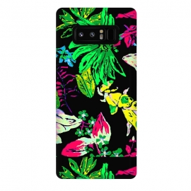 Galaxy Note 8  Good Garden by Bettie * Blue (flowers,bright colors,pretty,colorful,joy,daisy,black)