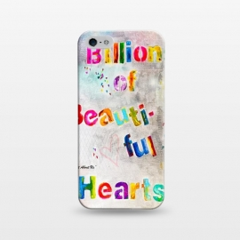 iPhone 5/5E/5s  We are Billions of Beautiful Hearts by Bettie * Blue (words,song,lyrics,Pink,gray,quote,colorful,font,text,love,romantic)