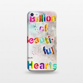 iPhone 5C  We are Billions of Beautiful Hearts by Bettie * Blue
