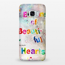 Galaxy S8+  We are Billions of Beautiful Hearts by Bettie * Blue (words,song,lyrics,Pink,gray,quote,colorful,font,text,love,romantic)