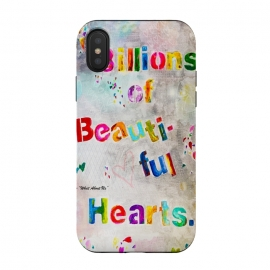 iPhone Xs / X  We are Billions of Beautiful Hearts by  (words,song,lyrics,Pink,gray,quote,colorful,font,text,love,romantic)