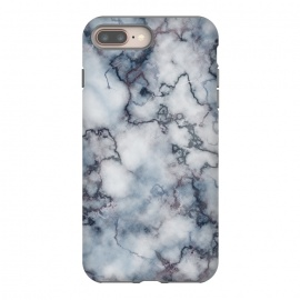 Blue and Silver Veined Marble by CatJello