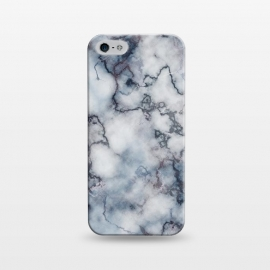 iPhone 5/5E/5s  Blue and Silver Veined Marble by