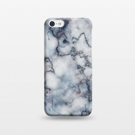 iPhone 5C  Blue and Silver Veined Marble by CatJello