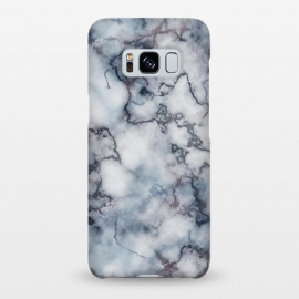 Galaxy S8+  Blue and Silver Veined Marble by Olga Khomenko