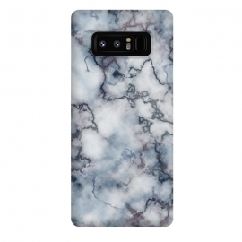 Galaxy Note 8  Blue and Silver Veined Marble by