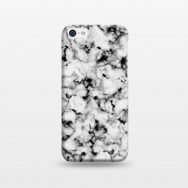 iPhone 5C  Black and White Marble by Olga Khomenko