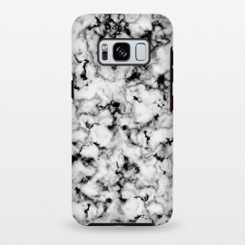 Galaxy S8 plus  Black and White Marble by