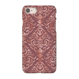 iPhone 8/7  Rose Gold Damask by Olga Khomenko