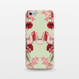 iPhone 5/5E/5s  Dramatic Florals (Red) by Zala Farah