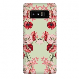 Galaxy Note 8  Dramatic Florals (Red) by Zala Farah