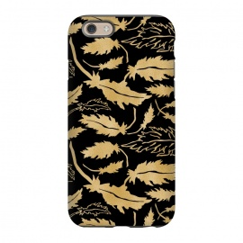 iPhone 6/6s  Gold and Black Feathers by Olga Khomenko