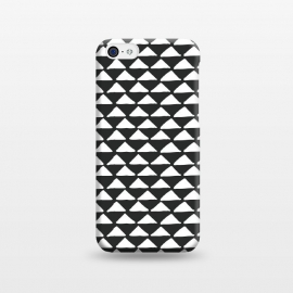 iPhone 5C  Triangle pattern seamless black and white by Jelena Obradovic