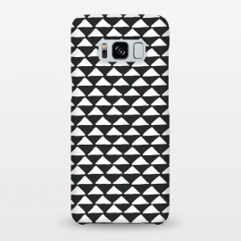 Galaxy S8+  Triangle pattern seamless black and white by Jelena Obradovic