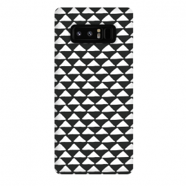 Galaxy Note 8  Triangle pattern seamless black and white by Jelena Obradovic