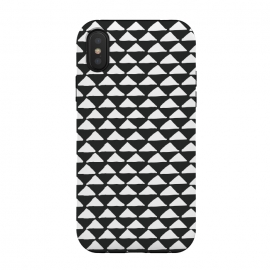 iPhone Xs / X  Triangle pattern seamless black and white by Jelena Obradovic (geometric, seamless, pattern, hand drawn, triangles, black and white, b w, abstract, lines, simple, repeat, tiles, decoration, ornamental, native, natural, bohemian)