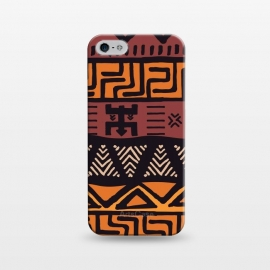 iPhone 5/5E/5s  Tribal ethnic geometric pattern 021 by Jelena Obradovic