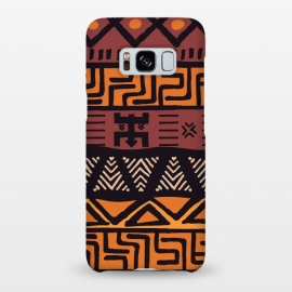 Galaxy S8+  Tribal ethnic geometric pattern 021 by Jelena Obradovic