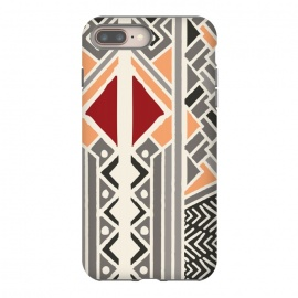 iPhone 8/7 plus  Tribal ethnic geometric pattern 034 by Jelena Obradovic