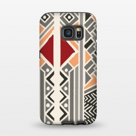 Galaxy S7  Tribal ethnic geometric pattern 034 by Jelena Obradovic