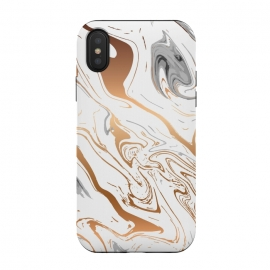 iPhone Xs / X  Liquid Golden Marble 007 by Jelena Obradovic