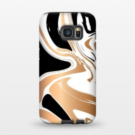 Galaxy S7  Black and Gold Marble 027 by Jelena Obradovic