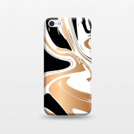 iPhone 5C  Black and Gold Marble 027 by Jelena Obradovic