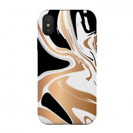 Black and Gold Marble 027 by Jelena Obradovic