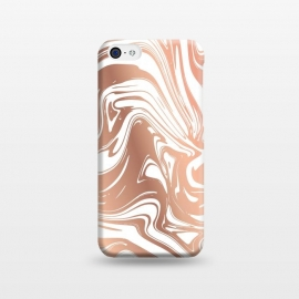 iPhone 5C  Liquid Copper Marble 029 by Jelena Obradovic