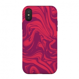 iPhone X  Liquid marble texture design 032 by Jelena Obradovic