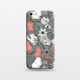 iPhone 5C  Botanical Pattern Gray by Jelena Obradovic