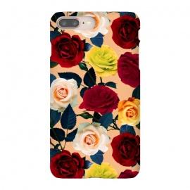 iPhone 8/7 plus  Rose Garden by  (rose,garden,jungle,tropical,botanical,vintage,retro,oldschool,leaf,flowers,floral,flora,pattern)