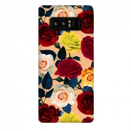 Galaxy Note 8  Rose Garden by  (rose,garden,jungle,tropical,botanical,vintage,retro,oldschool,leaf,flowers,floral,flora,pattern)