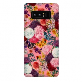 Galaxy Note 8  Floral Pink Pattern by Burcu Korkmazyurek (flowers,retro,tropical,botanical,garden,forest,jungle,tropic,exotic,vintage,oldschool)