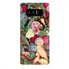 Galaxy Note 8  Floral and Animals pattern by Burcu Korkmazyurek