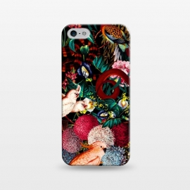 iPhone 5/5E/5s  Floral and Animals pattern II by Burcu Korkmazyurek